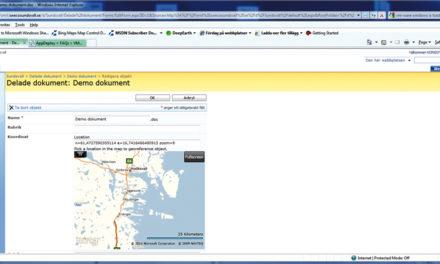 Integrerad kartlösning i SharePoint