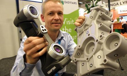 Nya reservdelar tillverkas lätt med ny portabel 3D handskanner