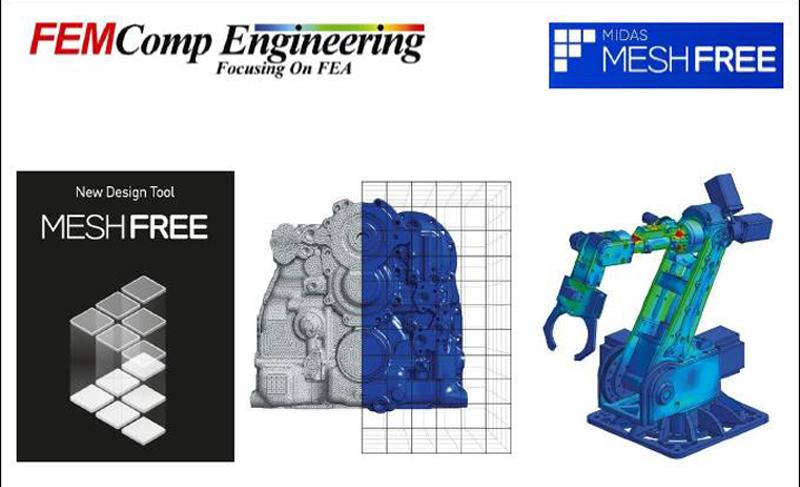 FEMComp presenterar ett nytt designverktyg – midas MESHFREE