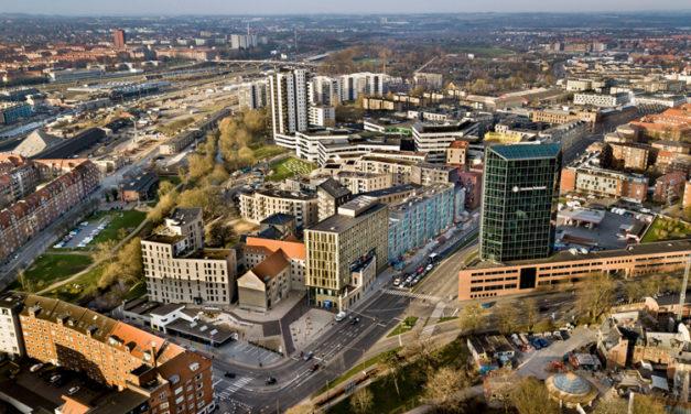 Bryggeriområde förvandlat till bostadsområde i Danmark