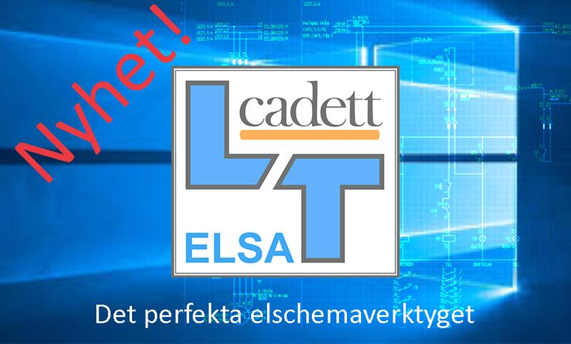 cadett ELSA LT – nytt lågprisprogram för elschema från cadett