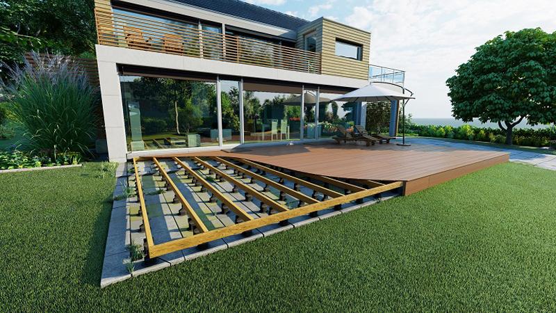 Nytt kilsystem för terrasser löser hantverkarnas huvudvärk