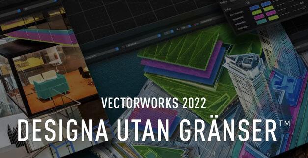 Vectorworks 2022ger nya lösningar för ett snabbare arbetsflöde och ett bättre sätt att designa.
