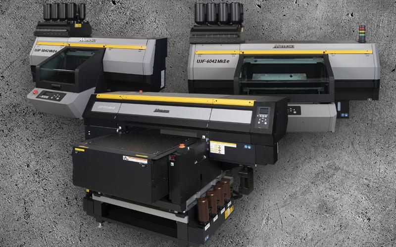Mimaki lanserar fyra nya UV LED-skrivare i UJF-serien – för print direkt på objekt